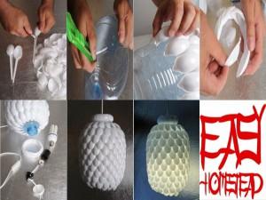 PET–Plastiklöffellampe